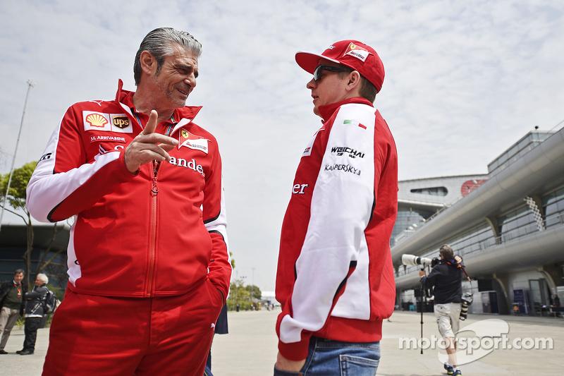 Maurizio Arrivabene, Ferrari Takım Patronu ile Kimi Raikkonen, Ferrari