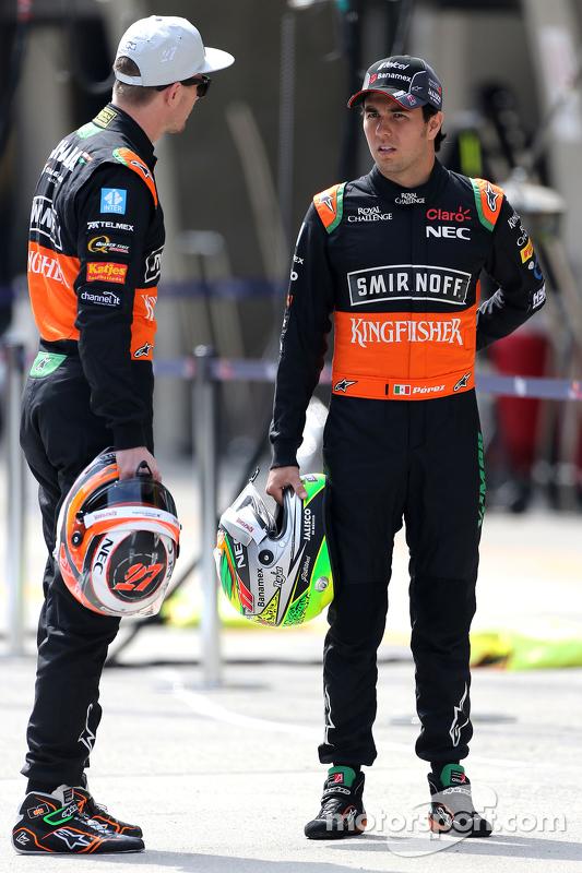 Sergio Pérez, Sahara Force India y Nico Hulkenberg, Sahara Force India