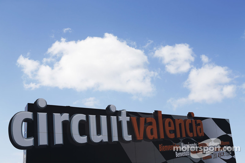 Circuit Valencia sign