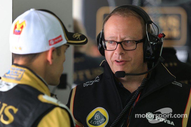 Mark Slade, Lotus F1 Team, Race Engineer