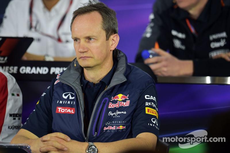 Paul Monaghan, Jefe Ingeniero de Red Bull Racing en conferencia de prensa de la FIA