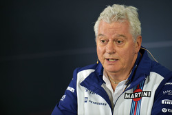 Pat Symonds, lors de la conférence de presse de la FIA