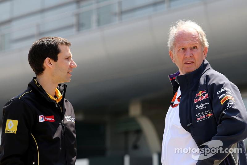 Remi Taffin, Renault Sport F1 Jefe de operaciones de pista y el Dr. Helmut Marko, Red Bull Motorsport Consultor