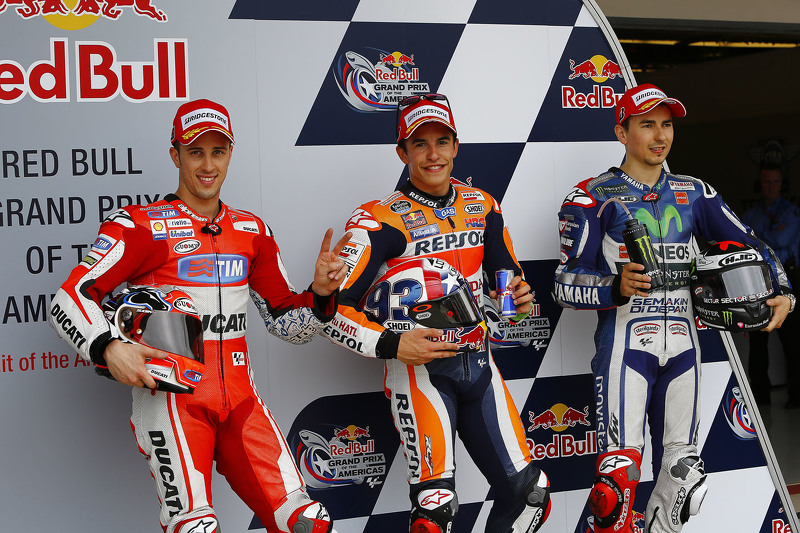Andrea Dovizioso, Marc Marquez, Jorge Lorenzo