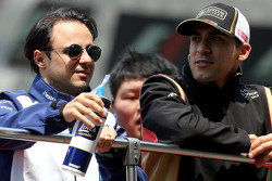 Felipe Massa, Williams F1 Team and Pastor Maldonado, Lotus F1 Team