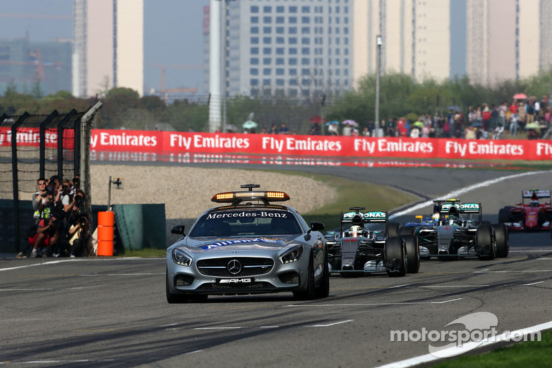 Safety car, Lewis Hamilton, Mercedes AMG F1 Team