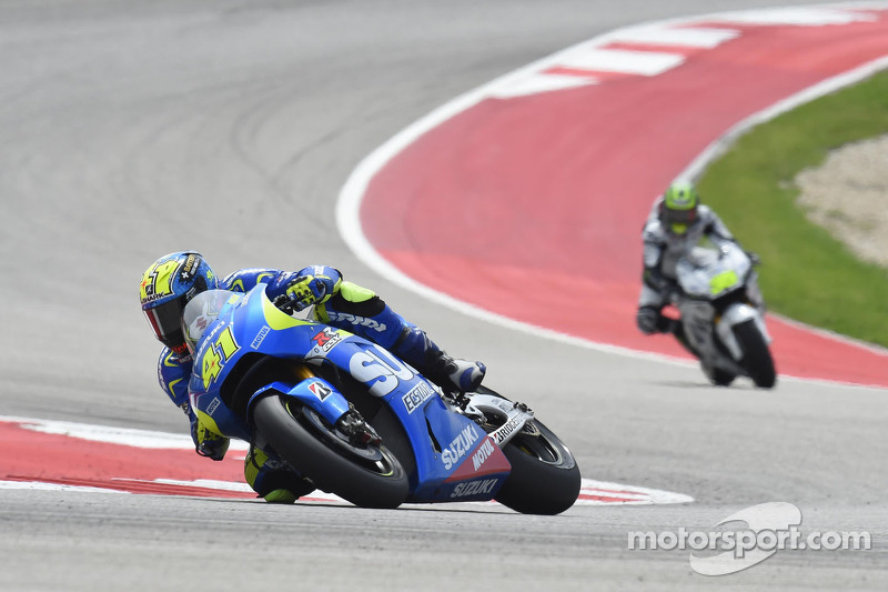 Aleix Espargaro, MotoGP铃木车队和Cal Crutchlow, LCR本田车队