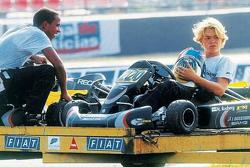 Lewis Hamilton y Nico Rosberg jovenes