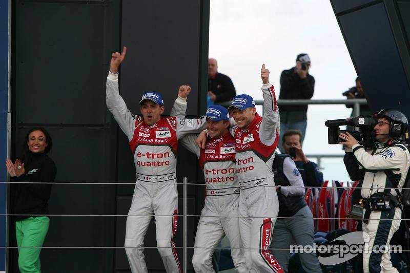 Para juara balapan Benoit Tréluyer, Marcel Fassler, Andre Lotterer