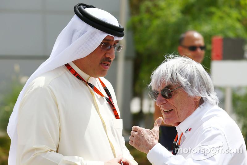 Scheich Mohammed bin Essa Al Khalifa, Geschäftsführer des Bahrain Economic Development Board, und Mc