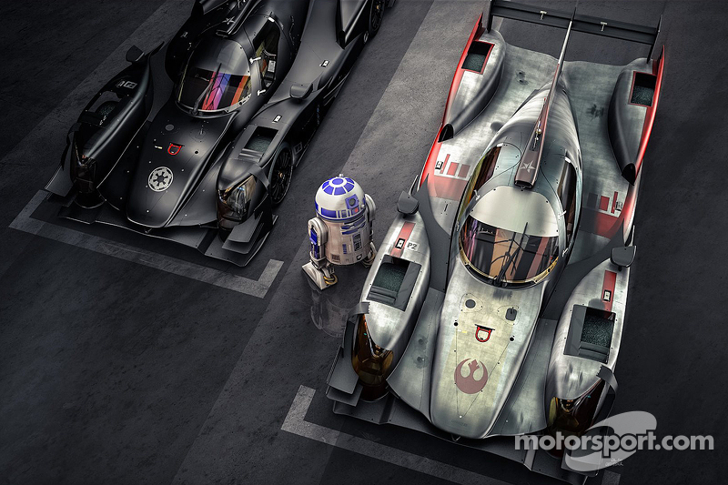 R2-D2 inspecte les ORECA 05 version Darkside et X-Wing