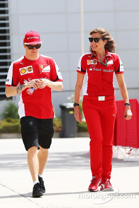 Кими Райкконен, Ferrari и Стефания Боччи, пресс-секретарь Ferrari