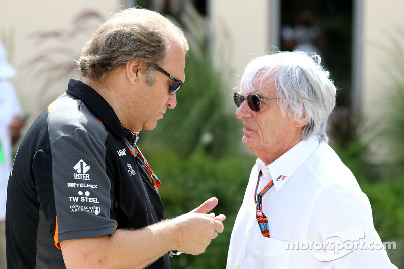 Robert Fernley, Sahara Force India F1 Team Deputy Team Principal and Bernie Ecclestone