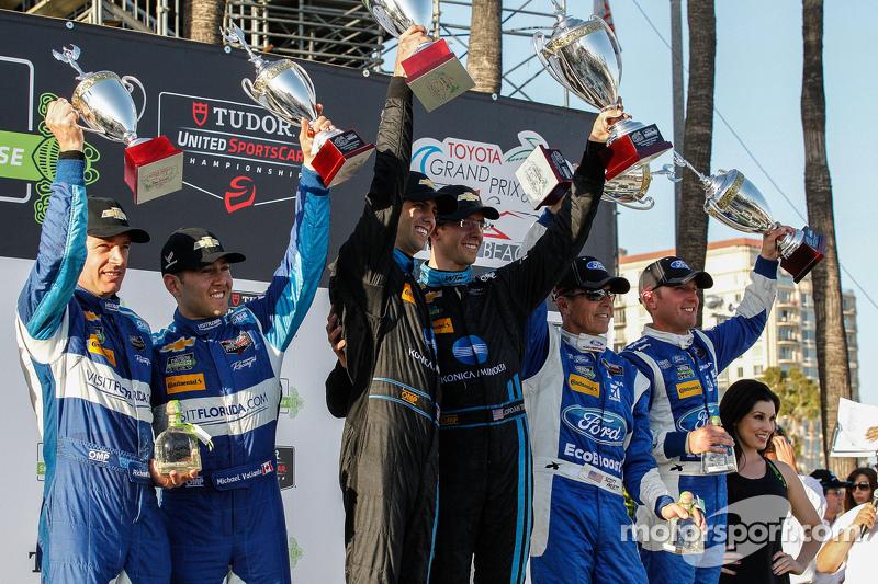 Podium: 2. #90 VisitFlorida.com Racing, Corvette DP: Richard Westbrook, Michael Valiante; 1. #10 Way