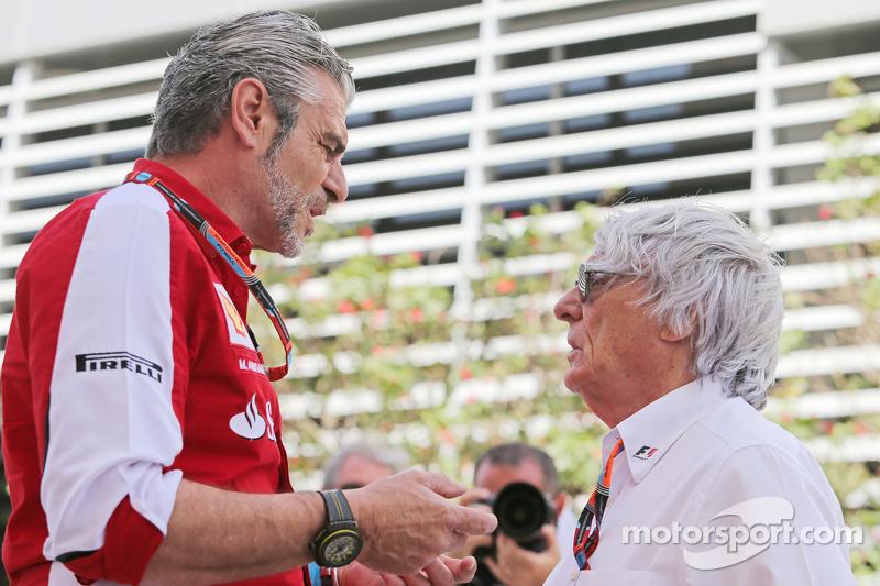 Мауріціо Аррівабене, Керівник Scuderia Ferrari з Берні Екклстоун,