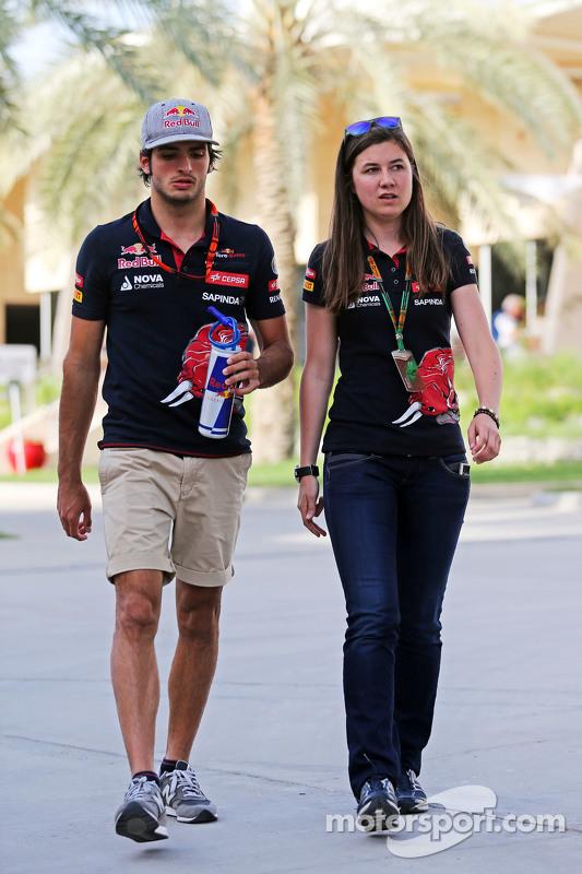 Carlos Sainz jr., und Tabatha Valls, Pressefrau Scuderia Toro Rosso