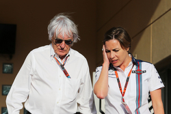 Bernie Ecclestone, con Claire Williams, Equipo Williams director Adjunto