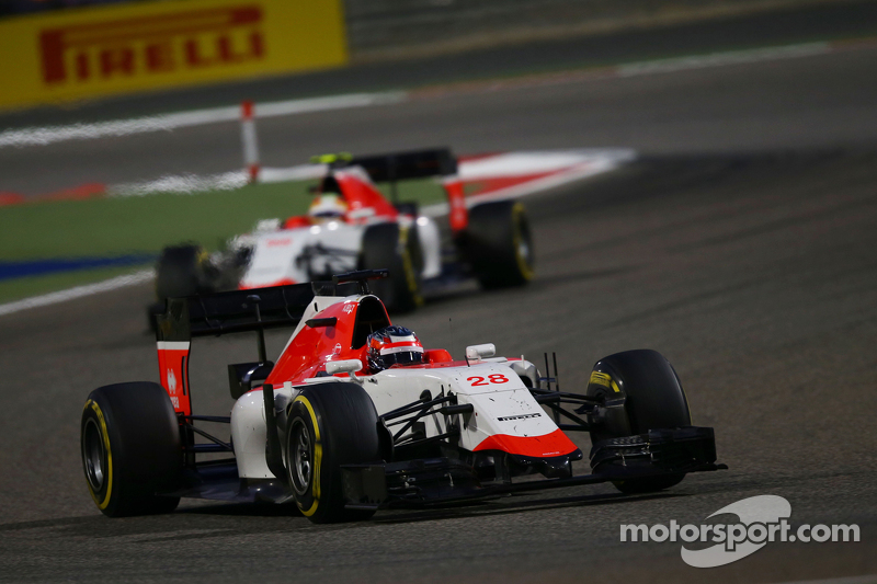 Will Stevens, Manor F1 Team memimpin rekan setim Roberto Merhi, Manor F1 Team