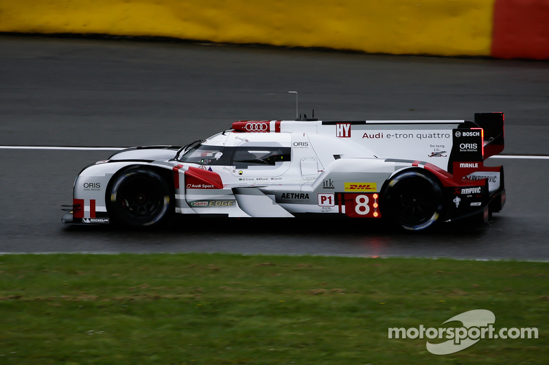 #8 Audi Sport Team Joest Audi R18 e-tron quattro Hybrid: Лукас ді Грассі,Луіс Дювал, Олівер Ярвіс