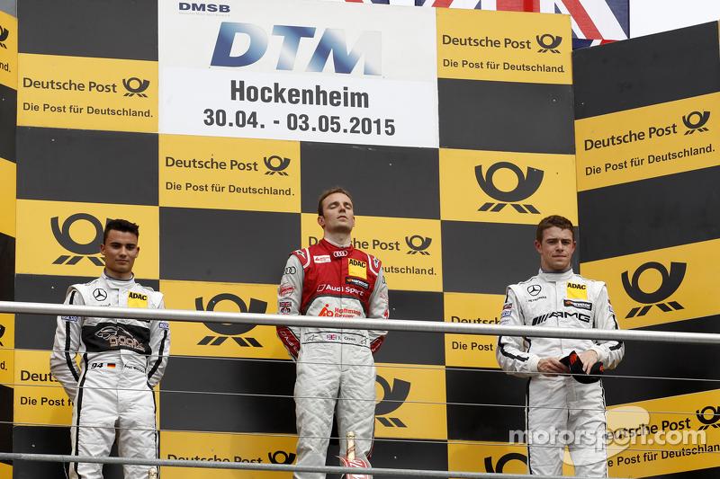 Podium, 2nd Pascal Wehrlein, HWA AG Mercedes-AMG C63 DTM, 1st Jamie Green, Audi Sport Team Rosberg Audi RS 5 DTM, 3rd Paul Di Resta, HWA AG Mercedes-AMG C63 DTM