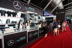 Mercedes AMG F1 Stand Merchandise