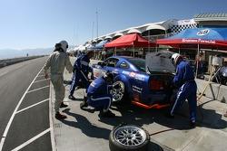 Pitstop for #37 JBS Motorsports Mustang GT: Jim Seafuse, Bret Seafuse, James Gue