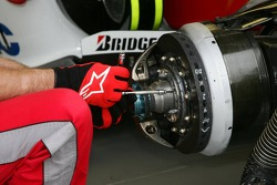 Toyota Racing team member works on TF106