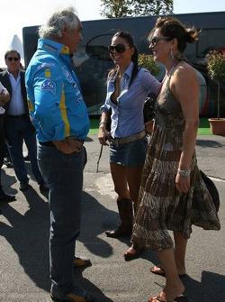 Flavio Briatore, girlfriend Elisabetta Gregoracci and Slavica Ecclestone