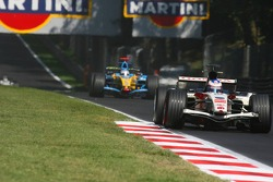 Jenson Button y Giancarlo Fisichella