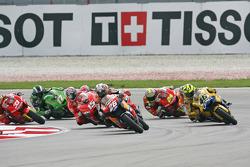Start: Dani Pedrosa and Valentino Rossi battle for the lead