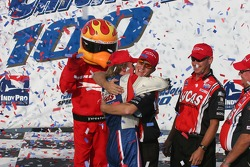 Jay Howard celebrates winning the Indy Pro Series Championship