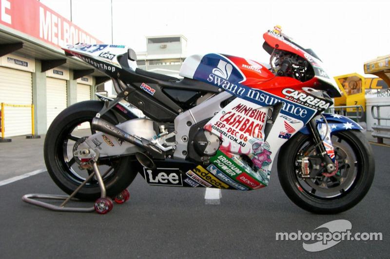 La motocicleta LCR Honda de Casey Stoner