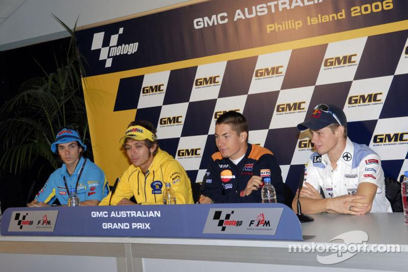 Conferencia de prensa: Chris Vermeulen, Casey Stoner, Valentino Rossi y Nicky Hayden