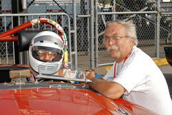 Richard Powers and crew chief with his 1962 MGA