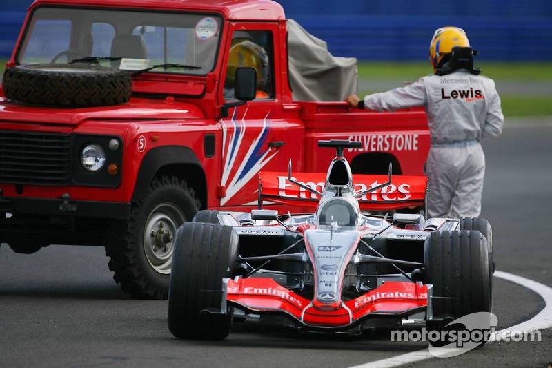 Lewis Hamilton, McLaren, nach Defekt