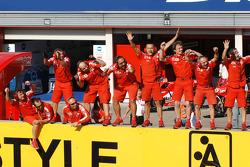 Ducati team members celebrate victory