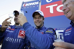 Winners Sébastien Loeb and Daniel Elena celebrate