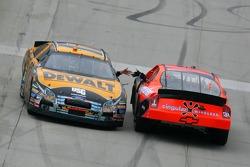 Matt Kenseth congratulates race winner Jeff Burton