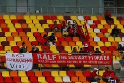 Ralf Schumacher fans banner