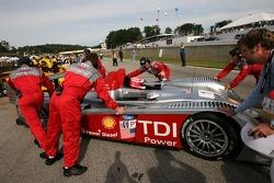 Marco Werner arrives on the starting grid
