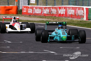 Ivan Capelli in the March and Gehard Berger in the McLaren Honda