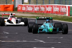Ivan Capelli in the March and Gehard Berger in the McLaren Honda