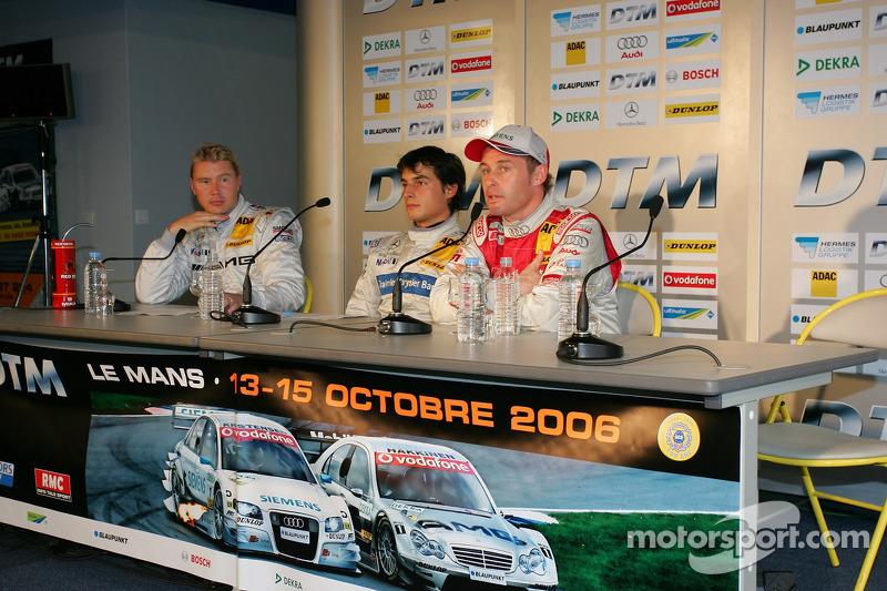 Tom Kristensen, Bruno Spengler et Mika Häkkinen