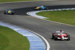 Jarno Trulli and Giancarlo Fisichella