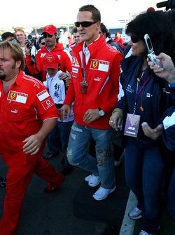 Michael Schumacher leaves the circuit
