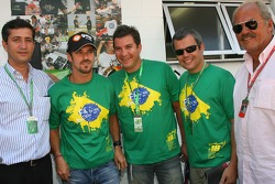 Tiago Monteiro and friends