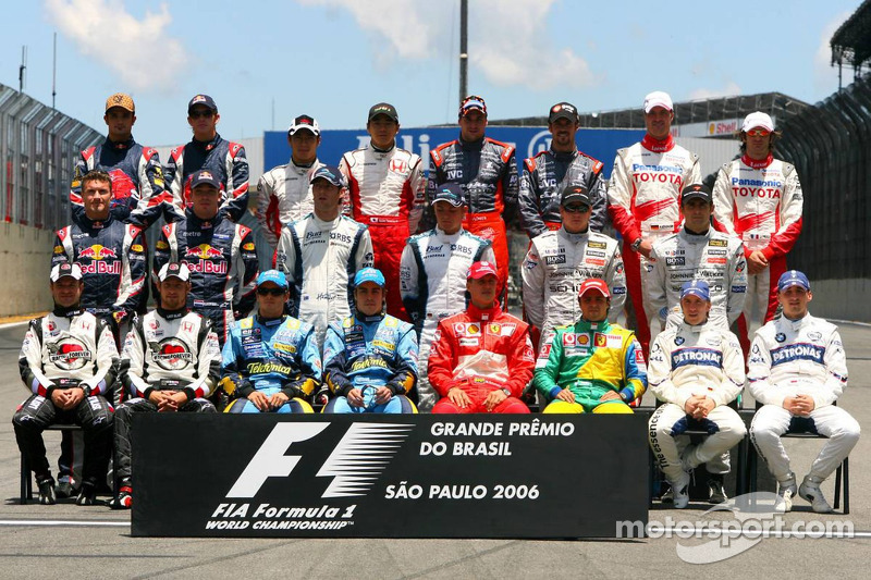 Familiefoto: de klas van 2006 in de Formule 1
