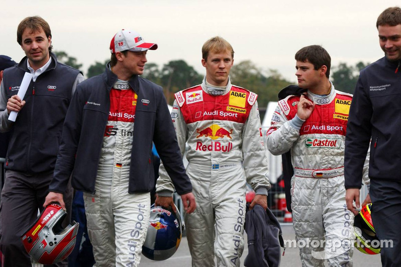 Frank Stippler, Mattias Ekström et Pierre Kaffer