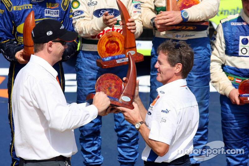 Podium : Malcolm Wilson, Team Principal du BP Ford WRC