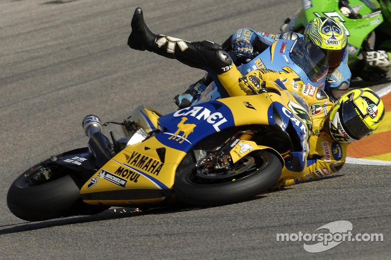 Valentino Rossi terjatuh, MotoGP Valencia 2006